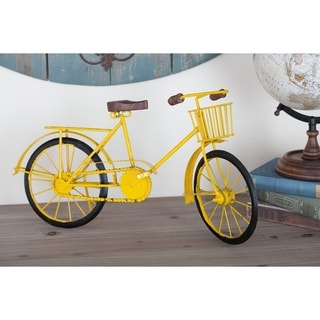 Carbon Loft Lillian Metal Wood Yellow Bicycle