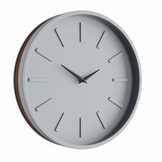 Carson Carrington Andalsnes Modern Round Analog Wooden Wall Clock