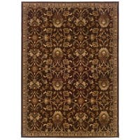 Copper Grove Rouyn Brown Floral Area Rug - 8'2 x 10'