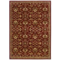 Laurel Creek Stanley Red Floral Area Rug - 8'2 x 10'