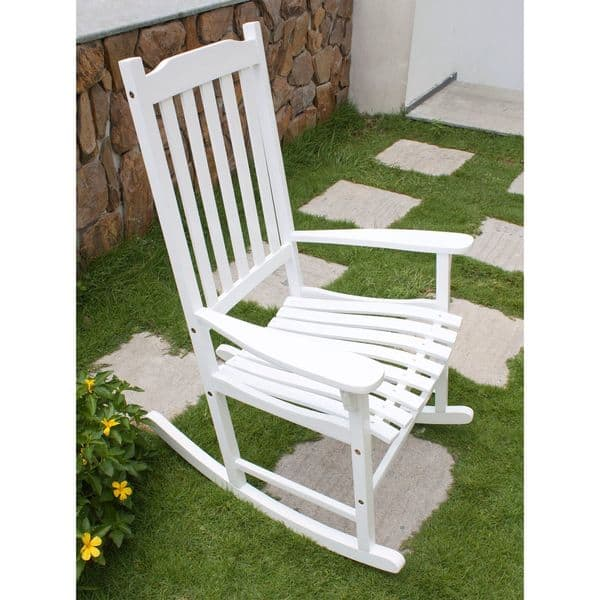 Peachy Shop Havenside Home Togiak Traditional Rocking Chair Free Caraccident5 Cool Chair Designs And Ideas Caraccident5Info