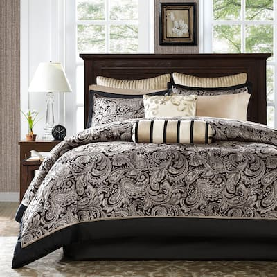 Madison Park Wellington 12-piece Bed in a Bag with Sheet Set