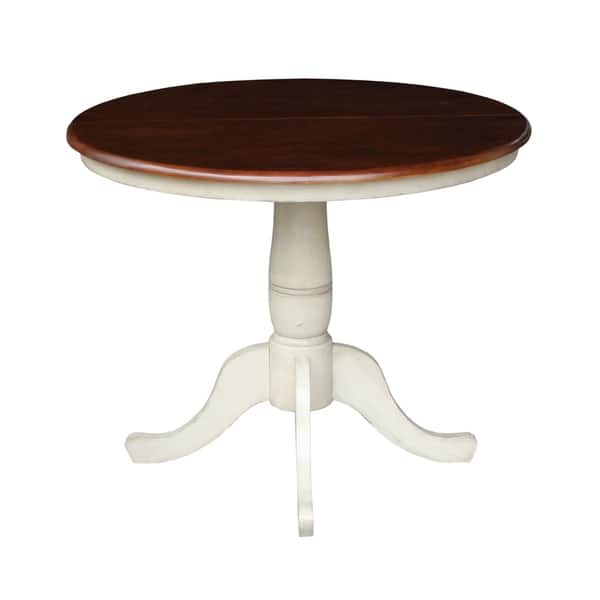The Gray Barn Jalisco 36 Inch Round Top Pedestal Table With 12 Leaf