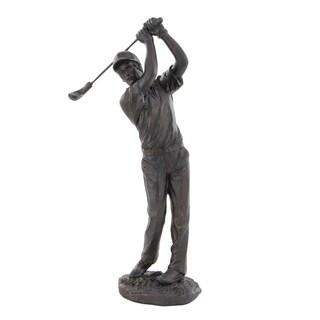 Laurel Creek Ora Contemporary Swinging Golfer Sculpture