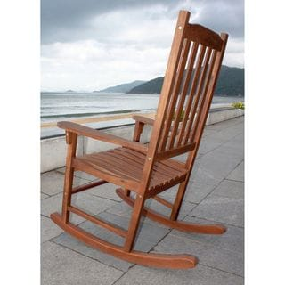Havenside Home Togiak Traditional Acacia Hardwood Rocking Chair