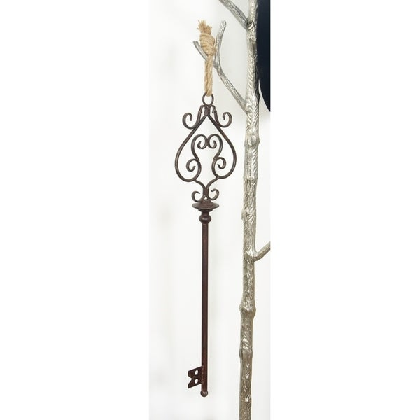 Copper Grove Iris Decorative Old Fashioned Keys with Rusty Finish (Set of 3)