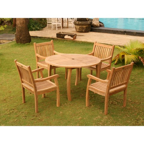 Goodwin 5-piece Outdoor Jarkarta Teak Dining Set by Havenside Home