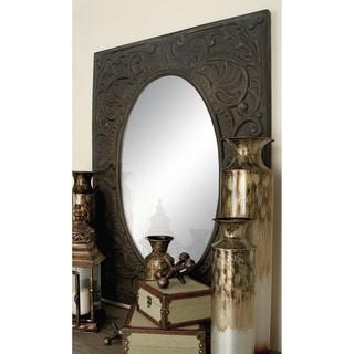 The Gray Barn Joyful Stream Square Frame Metal Mirror - Dark Brown