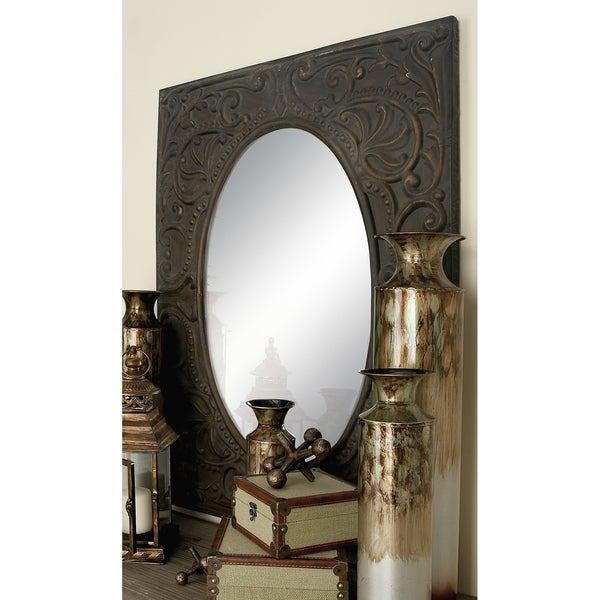 The Gray Barn Joyful Stream Square Frame Metal Mirror