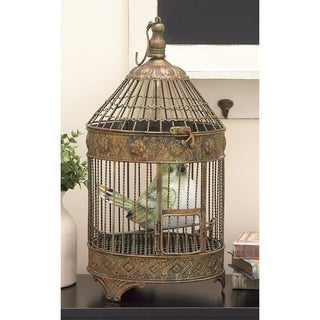 The Curated Nomad Jiminez Metal Bird Cage (Set of 2)