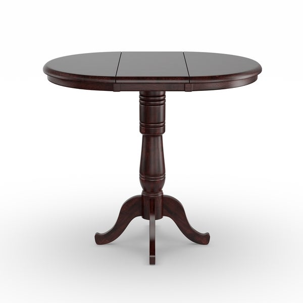 Havenside Home Knotts 36 Inch Round Dining Room Table With Two Extensions