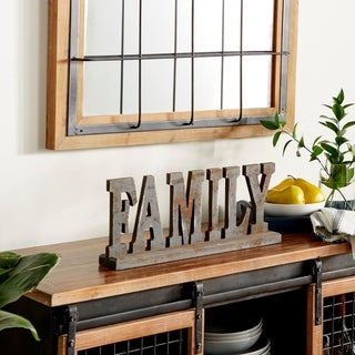Copper Grove Backus Wood Table Top 'Family' Display