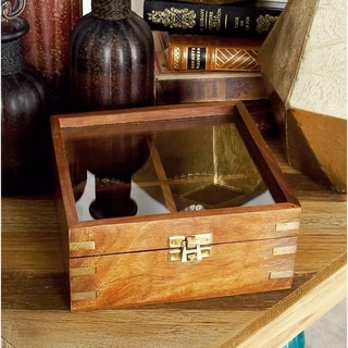 Copper Grove Hidden Springs Brown And Gold Wood Decorative Box