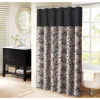Madison Park Wellington Shower Curtain 2-color Option