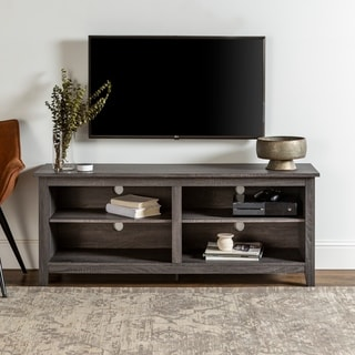 Porch & Den Harmony 58-inch Wood Charcoal Grey TV Stand - 58 x 16 x 24h