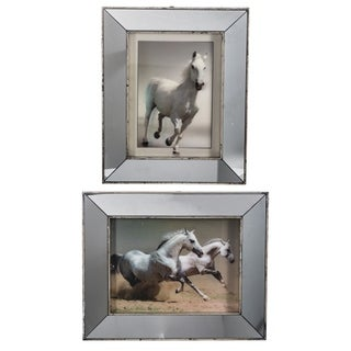 Set of 2 Daven Galloping Horse 5D Wall Art 12x16 inches - Silver