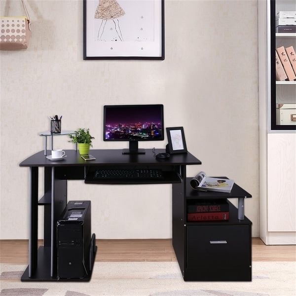 Shop Home Office Computer Table Corner Desk With Keyboard