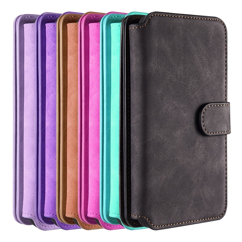 buy cheap 4f8b5 926e9 Samsung Galaxy S9 Plus Luxury Coach Series Flip Wallet Case