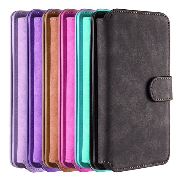 a02a8825b548 Shop Samsung Galaxy S9 Plus Luxury Coach Series Flip Wallet Case ...