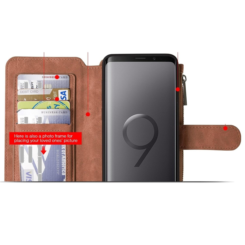 buy cheap 02e43 87e18 Samsung Galaxy S9 Plus Luxury Coach Series Flip Wallet Case