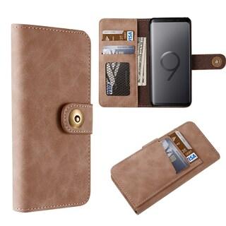 Samsung Galaxy S9 Plus Luxury Coach Lite Series Flip Wallet (Option: Brown)