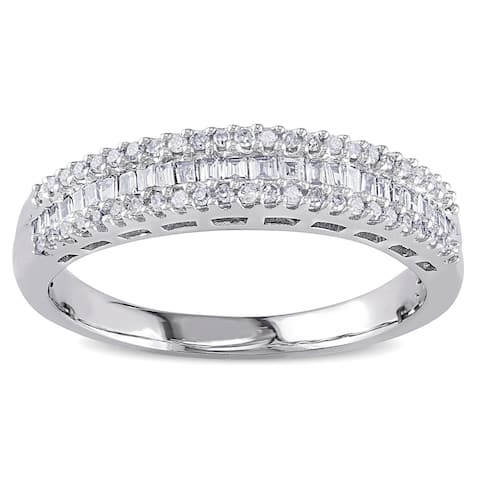 Buy Baguette Women\'s Wedding Bands Online at Overstock.com | Our ...