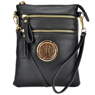 Dasein Fashion All-In-One Gold-Tone Crossbody Handbag