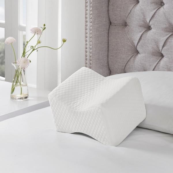 Sleep Philosophy Memory Foam White Knee Pillow