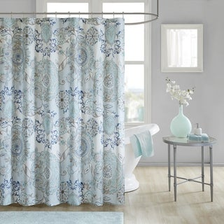 Link to Madison Park Loleta Cotton Printed Shower Curtain Similar Items in Shower Curtains
