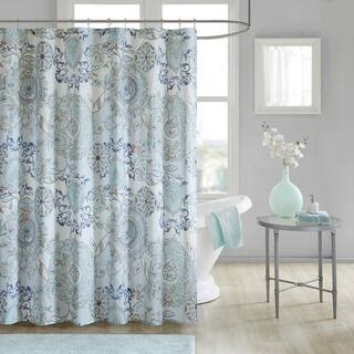 Shop Garden Paisley Blue Grey Shower Curtain Free Shipping On