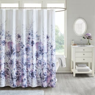 Buy Purple Floral Shower Curtains Online At Overstock