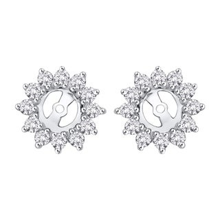14k White Gold 1/4ct TDW Diamond Earring Jackets (I-J, I1)