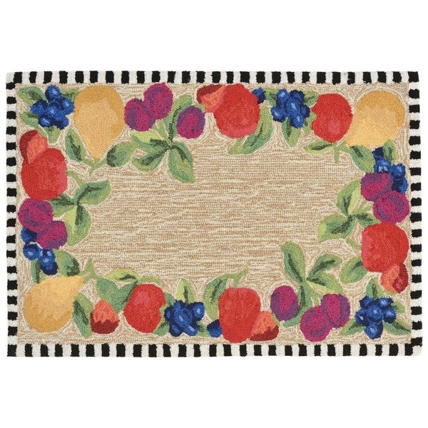 Orchard Border Outdoor Rug (7'6 x 9'6) - Multi - 7'6 x 9'6