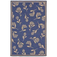 Floral Scatter Blue Outdoor Area Rug - 7'10 x 9'10