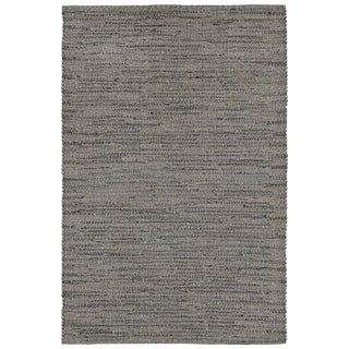 Tonal Weave Grey Handmade Outdoor Area Rug - 7'6 x 9'6