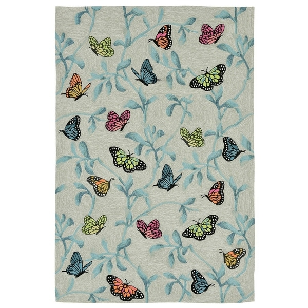 Resting Wings Outdoor Rug (7'6 x 9'6) - 7'6 x 9'6