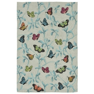 Resting Wings Outdoor Rug (8'3 x 11'6) - 8'3 x 11'6