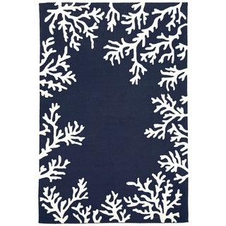 Sea Border Outdoor Rug (8'3 x 11'6) - 8'3 x 11'6