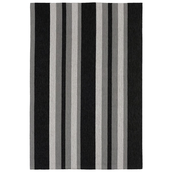 Multi Stripe Outdoor Rug (7'6 x 9'6) - 7'6 x 9'6