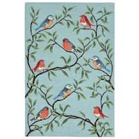 Liora Manne Ravella Summer Birds Outdoor Rug (7'6 x 9'6) - 7'6 x 9'6