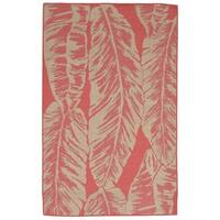 Tropical Leaf Rust Terracotta Outdoor Rug - 7'10 x 9'10