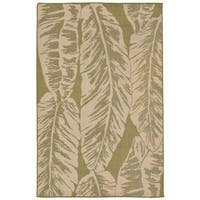 Tropical Leaf Outdoor Rug - 7'10 x 9'10