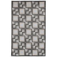 Geometric Square-in-Square Grey Wilton-woven Rug (7'10 x 9'10)