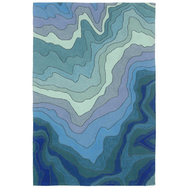 Waves Outdoor Rug (7'6 x 9'6) - 7'6 x 9'6