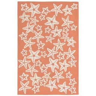 Liora Manne Capri Starfish Outdoor Rug (3'6 x 5'6) - 3'6 x 5'6
