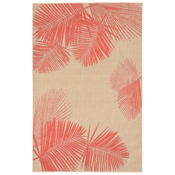 Liora Manne Tropical Palm Leaves Outdoor Rug (3'3 x 4'11) - 3'3 x 4'11
