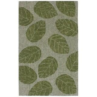 "Liora Manne Savannah Leaf Wool Indoor Rug Green 3'6"" X 5'6"" - 3'6 x 5'6"