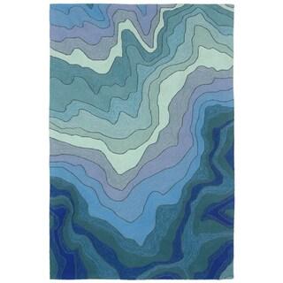 Liora Manne Ravella Waves Outdoor Rug (3'6 x 5'6) - 3'6 x 5'6