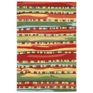 Liora Manne Ravella Organic Stripes Outdoor Rug (3'6 x 5'6) - 3'6 x 5'6