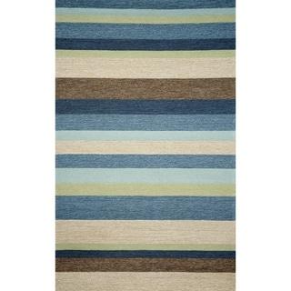 Liora Manne Ravella Stripe Outdoor Rug (3'6 x 5'6) - 3'6 x 5'6